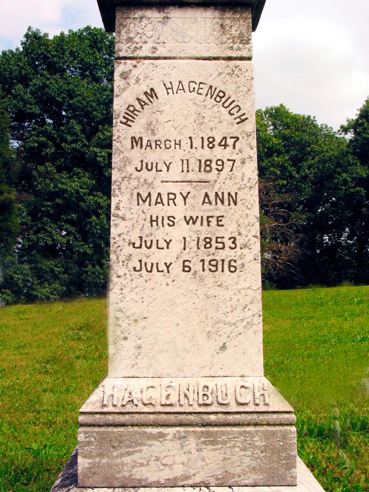 Gravestone of Hiram and Mary Ann