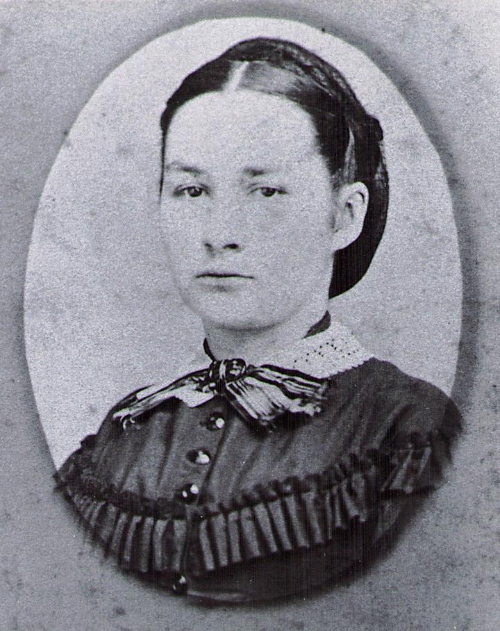 """Mary Ann """"Lindner"""" Hagenbuch, circa 1872."""