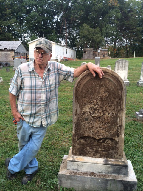 William Hagenbuch's gravestone stands tall again!