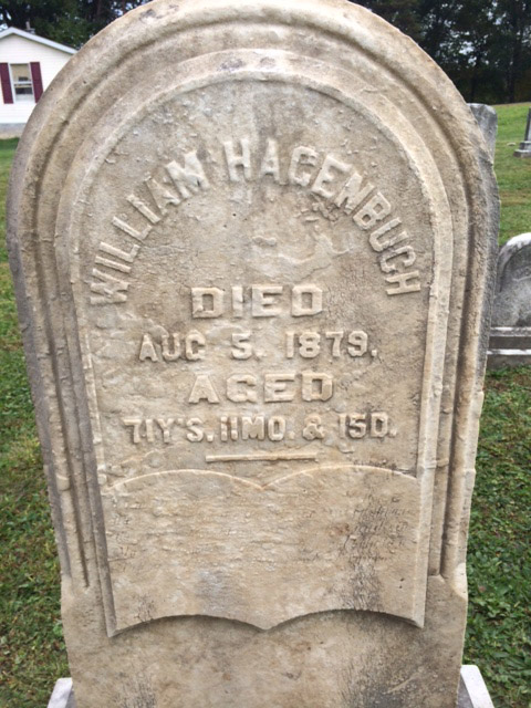 William Hagenbuch's gravestone after cleaning.