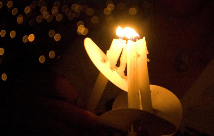 Church Candle Light Service