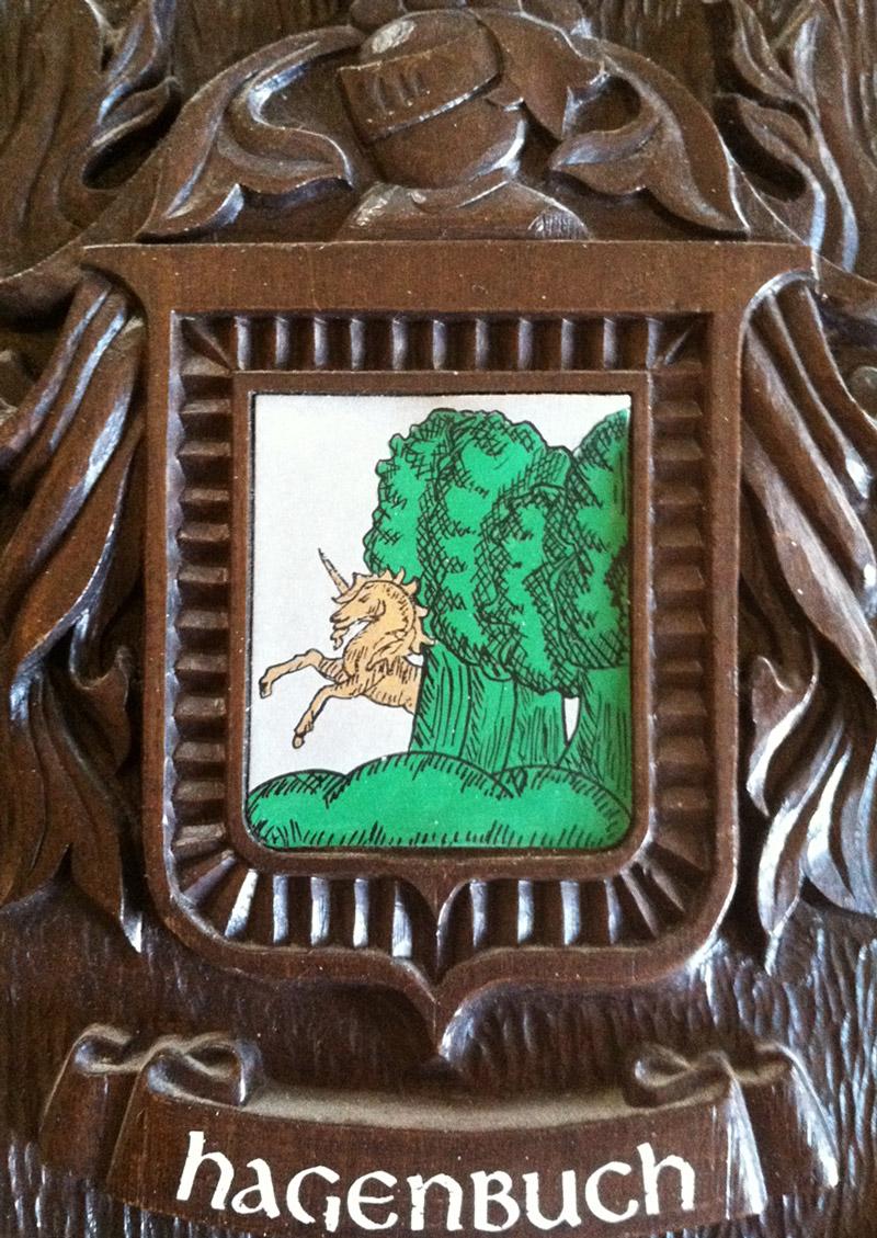 Hagenbuch Coat of Arms Unicorn