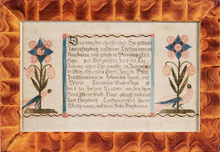 Charles (Karl) Hagenbuch Baptismal Fraktur
