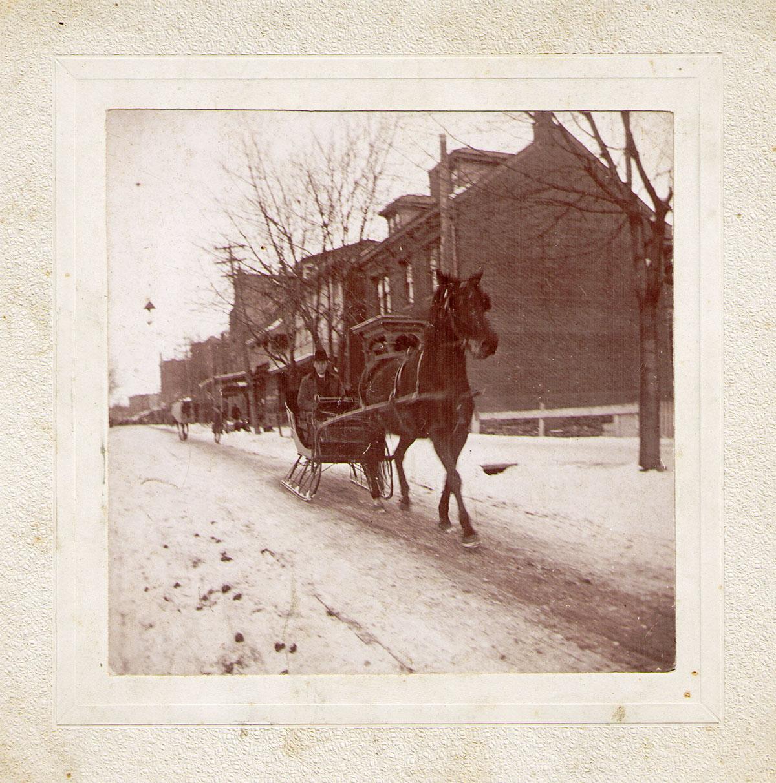 Percy Hagenbuch Horse Sleigh 1905