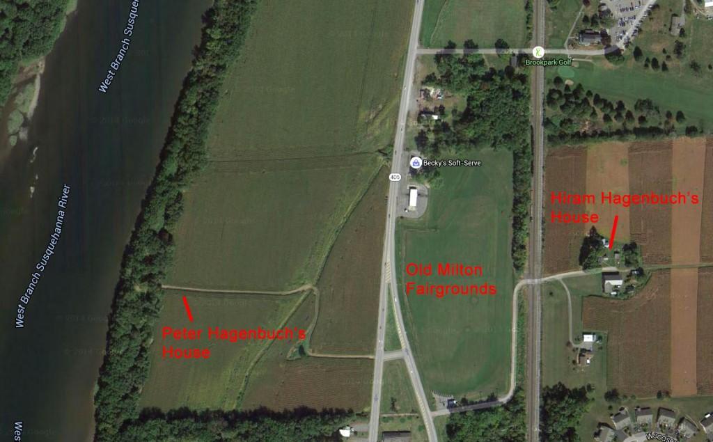 Hiram Hagenbuch Peter Hagenbuch Milton Fairground Map