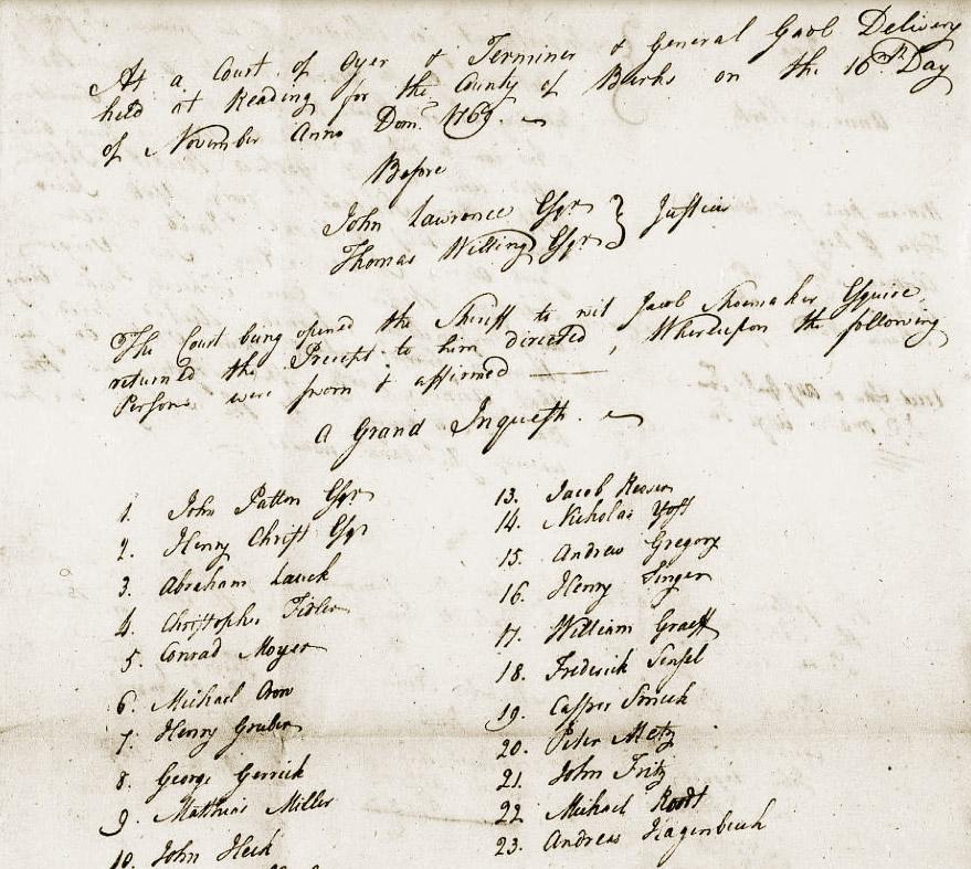 Indictment Thomas Porter 1769