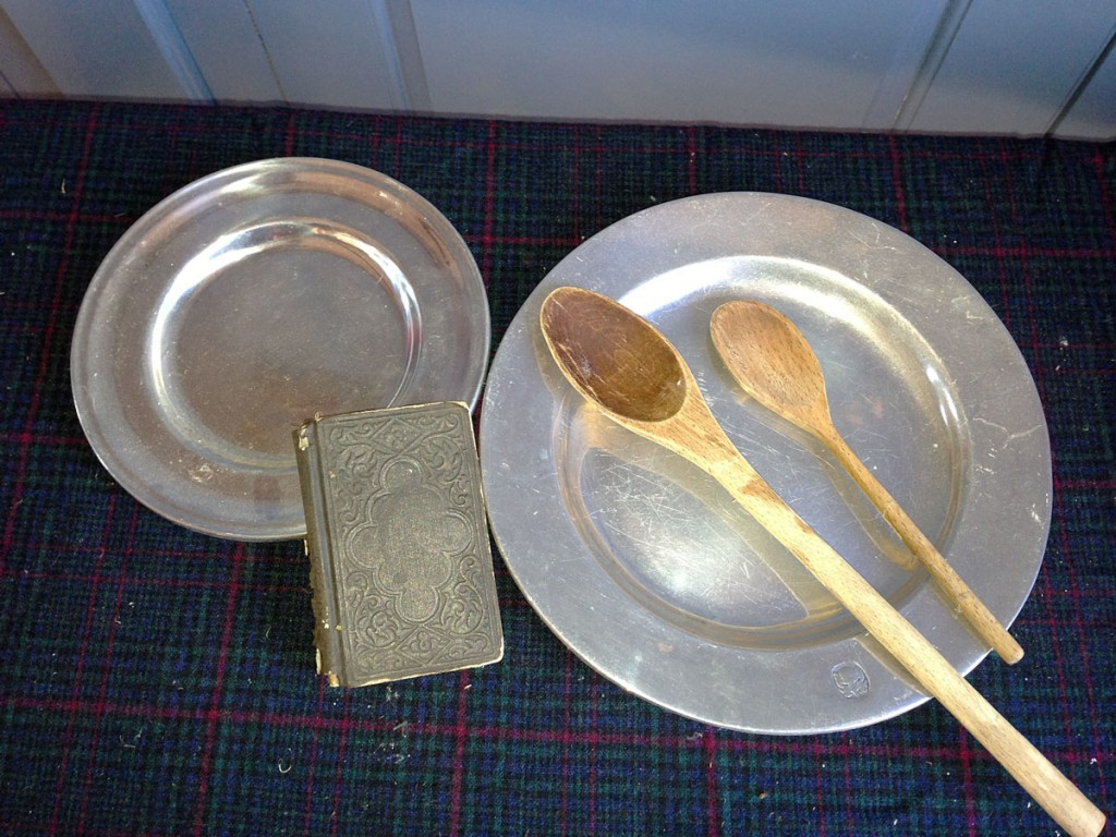 Plates, Spoons, Book