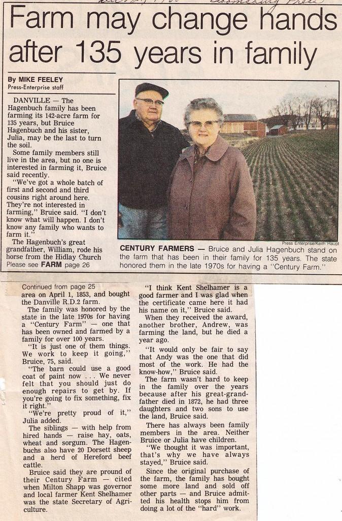 Century Farm Article