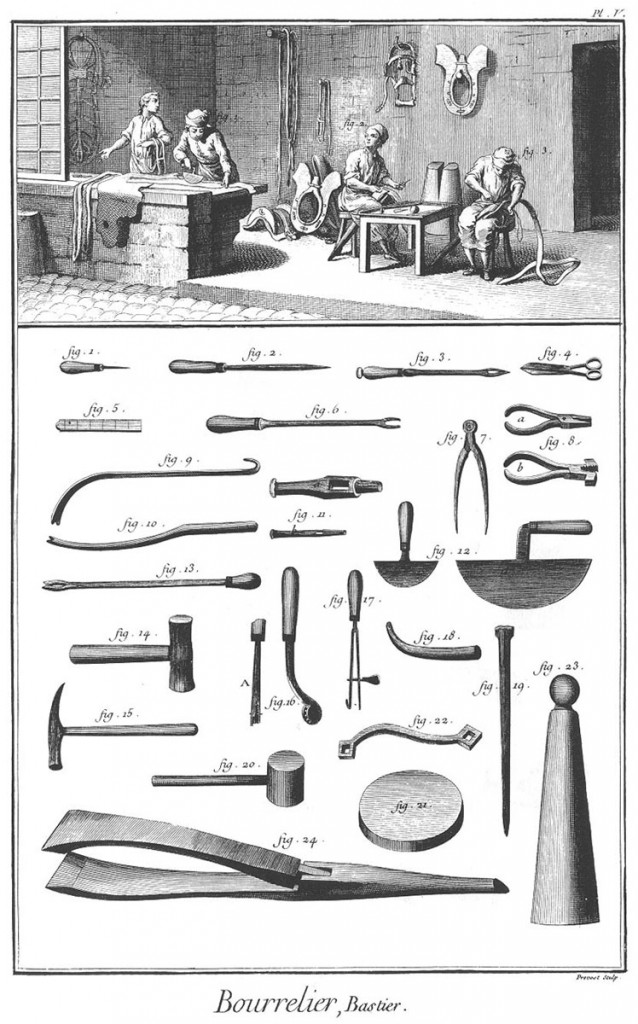 Harness and Saddle Maker Diderot 1763