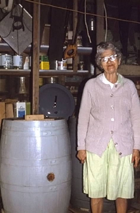 "Minnie ""Hilner"" Faus Sauerkraut Barrel 1979"