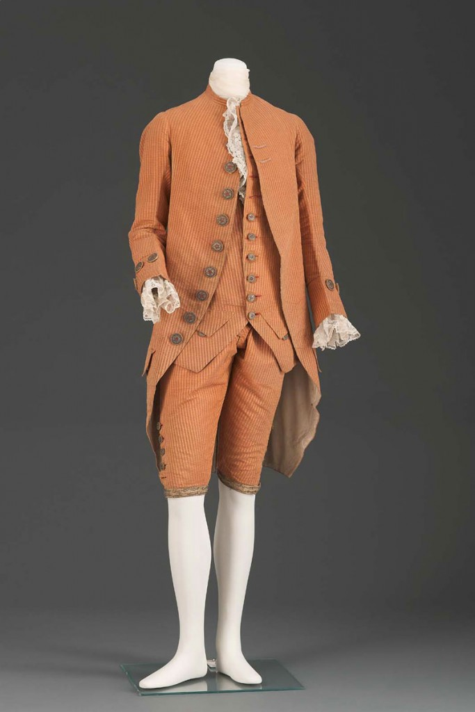 Orange Men's Coat 18th Century