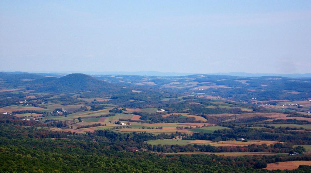 Allemangel Seen From Hawk Mountain