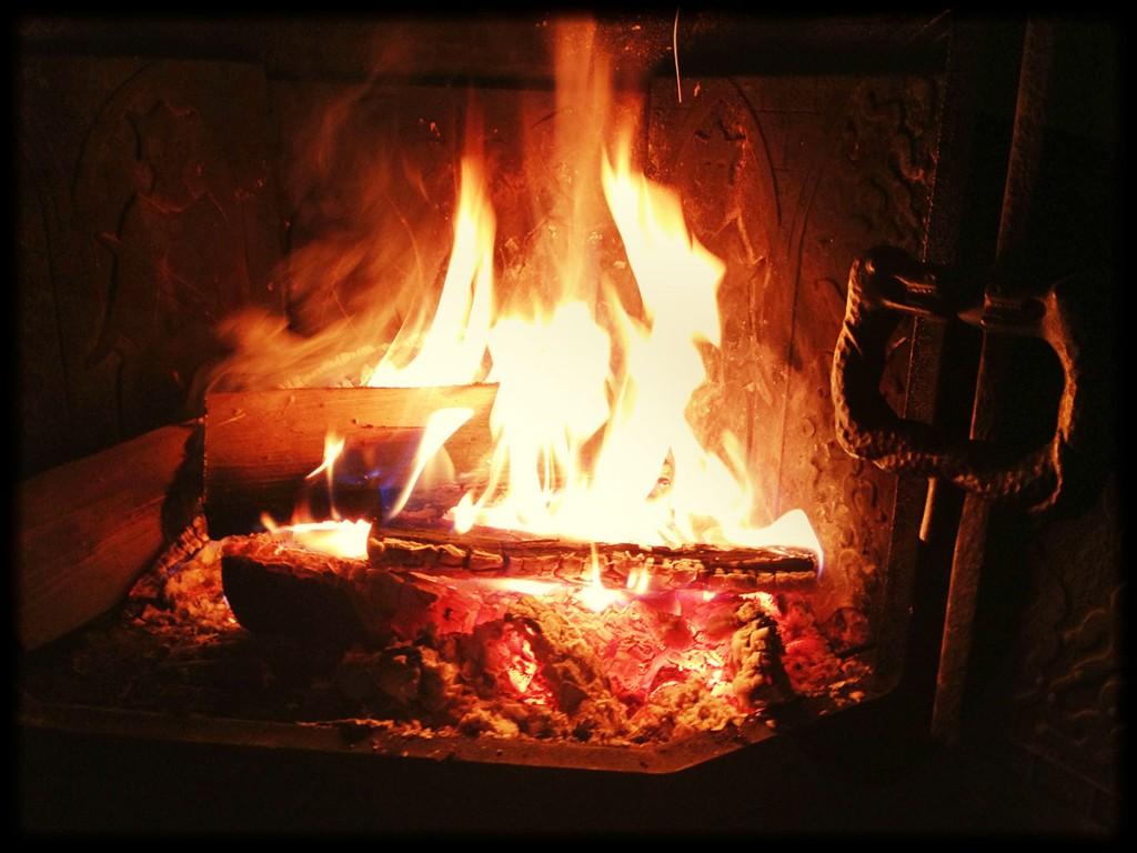 Fireplace Night