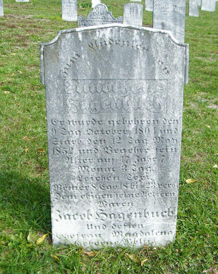 Timothy Hagenbuch Gravestone