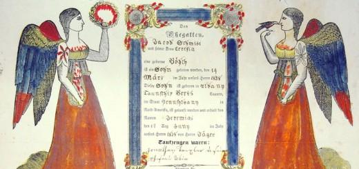 Timothy Hagenbuch Taufschein Detail