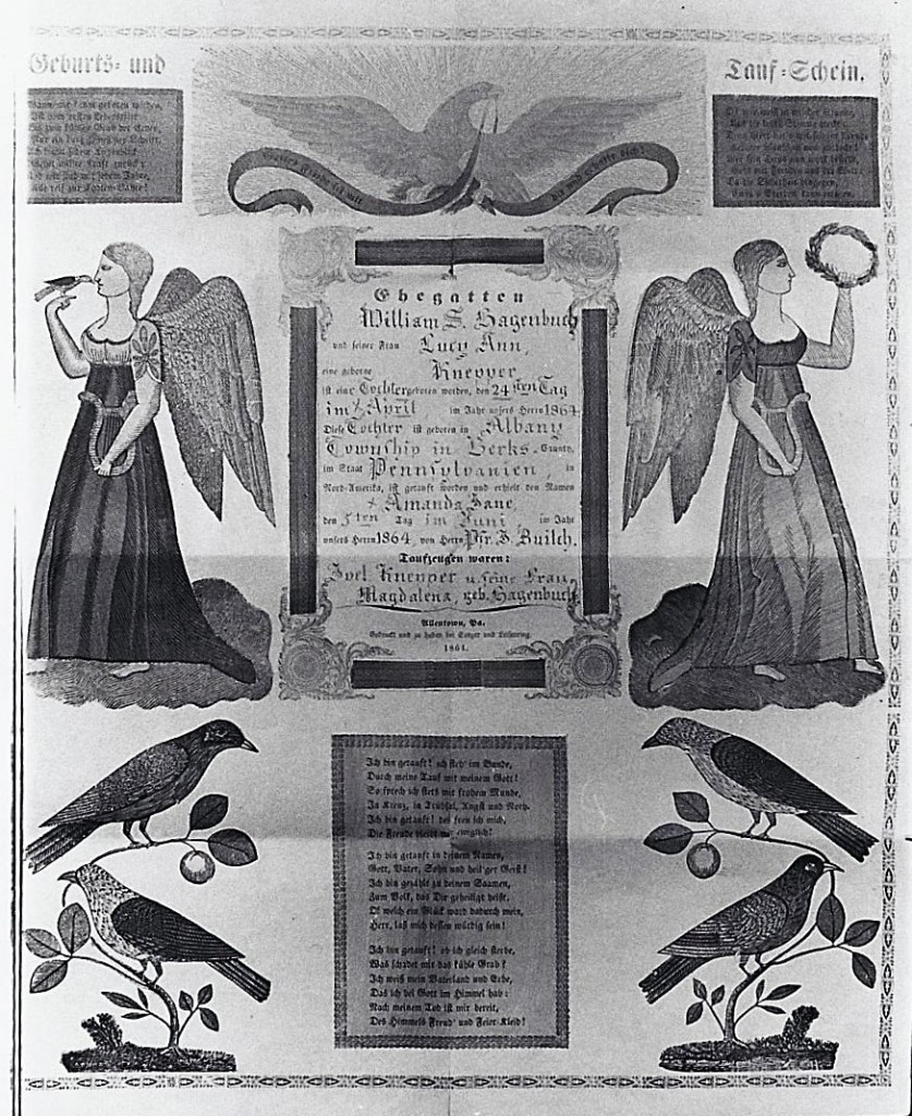 Amanda Jane Hagenbuch Birth Baptism 1864