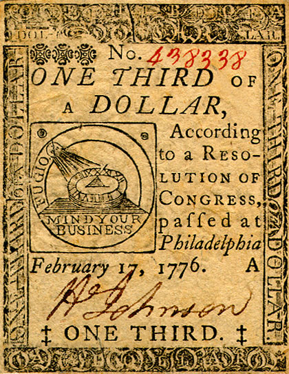 Continental Money 1776