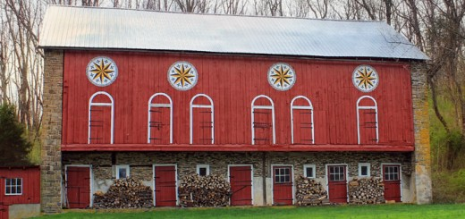 Hex Signs Barn Detail