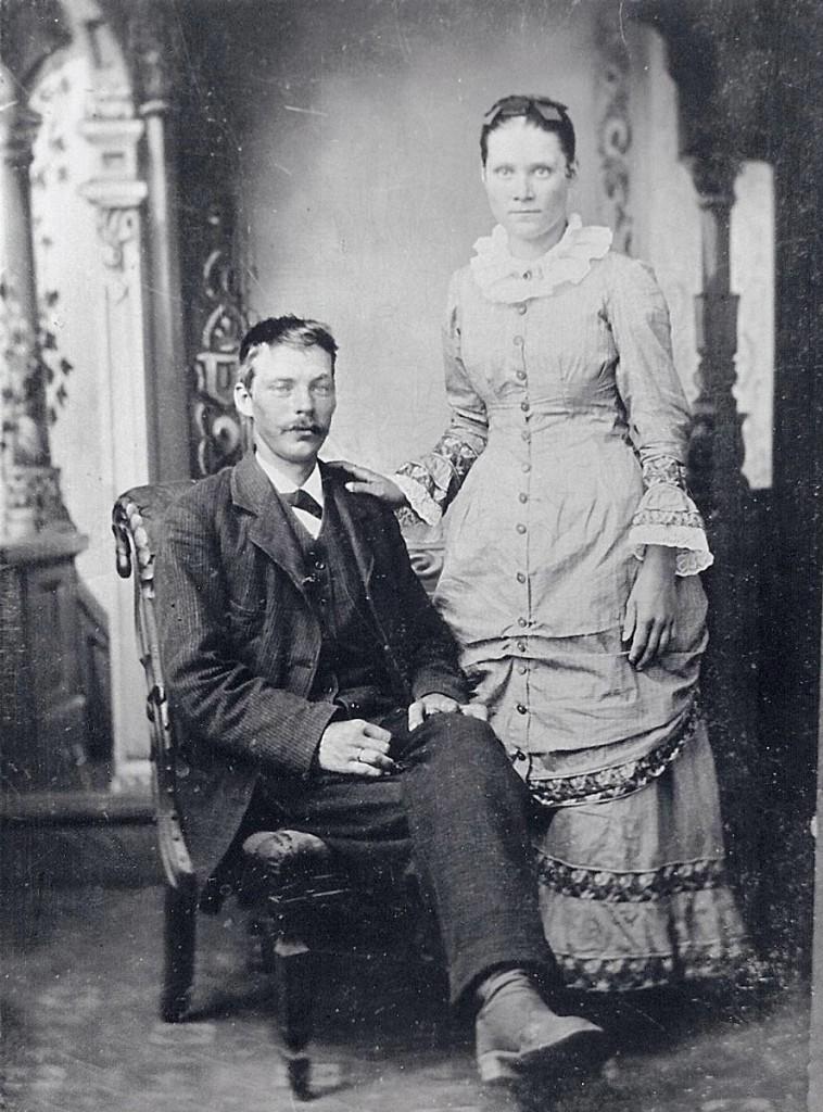 """Jesse, Amanda Jane """"Hagenbuch"""" Jackson Wedding, 1888"""