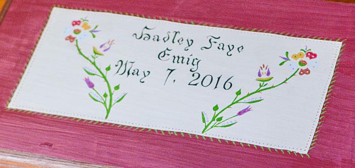 Hadley Faye Emig Chest Detail