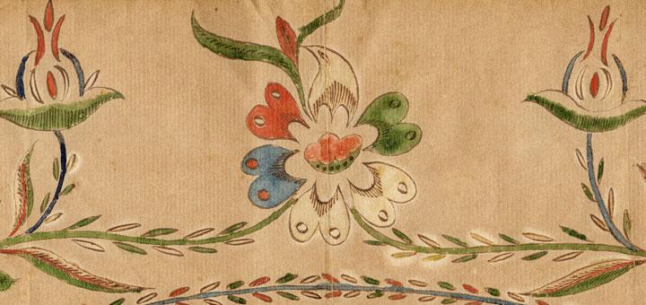 Anna Elizabeth Hagenbuch Fraktur Taufschein Flowers