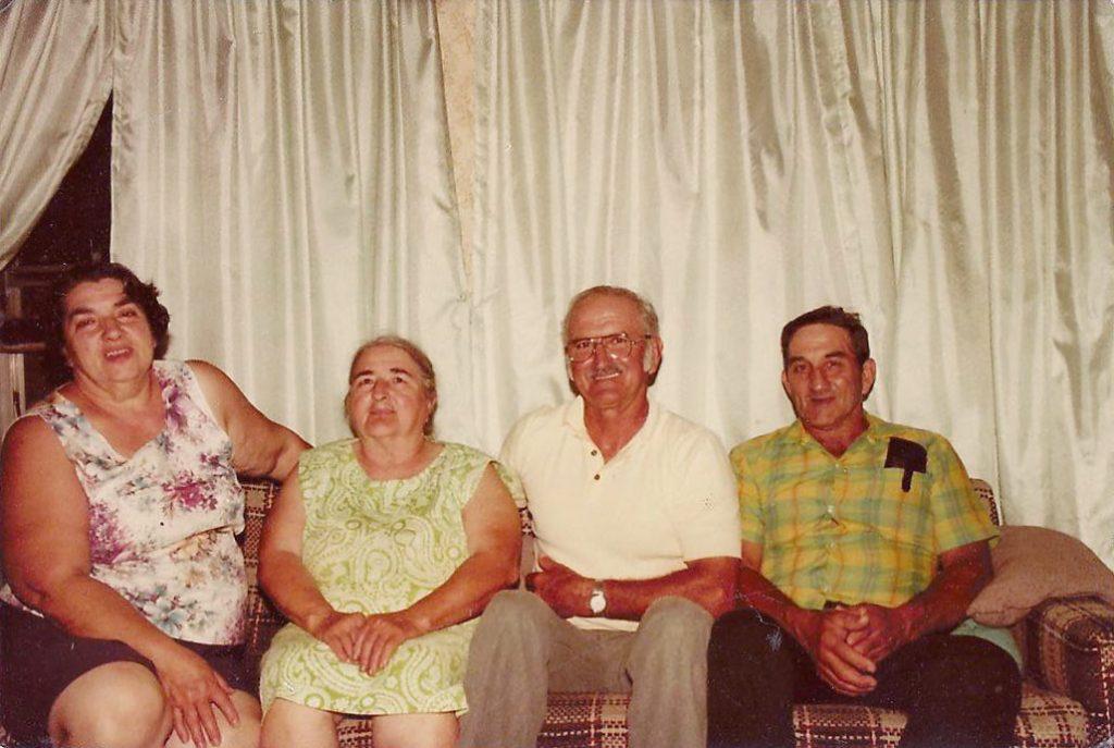 Helen, Kathryn, Roy, Clyde, 1980