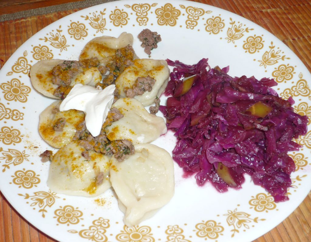 Pelmeni Red Cabbage Plated