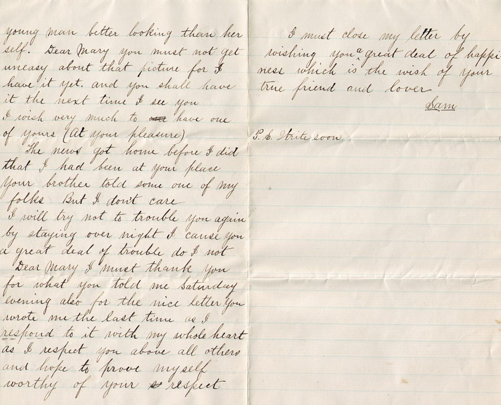 Samuel Sechler Letter January 21, 1880