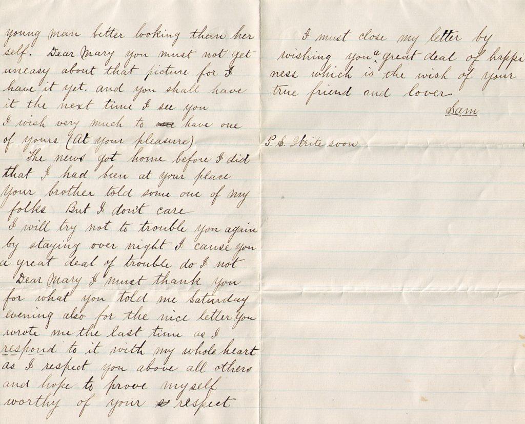 Samuel Sechler Letter January 21, 1880
