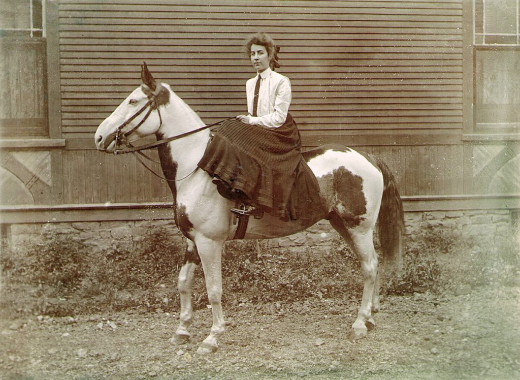 Lillian Foust with Horse