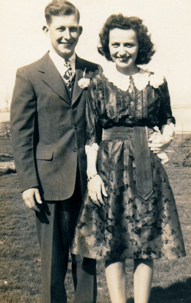 John & Florence Hagenbuch Robb Wedding 1946