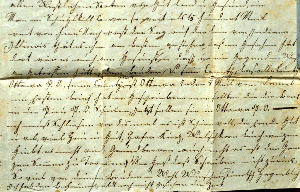 Timothy & Enoch Hagenbuch Letter 1851 Inside