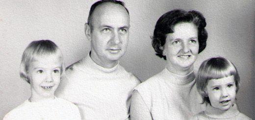 Joseph, Bernice, Teresa, Lisa Hagenbuch 1969 Detail