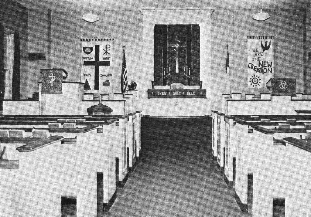 Oak Grove Lutheran Church Interior 1969