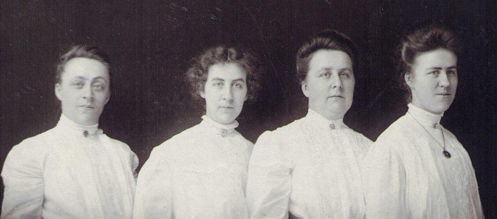 Foust Sisters: Ella, Lillian, Mary Alice, Sarah, c. 1910