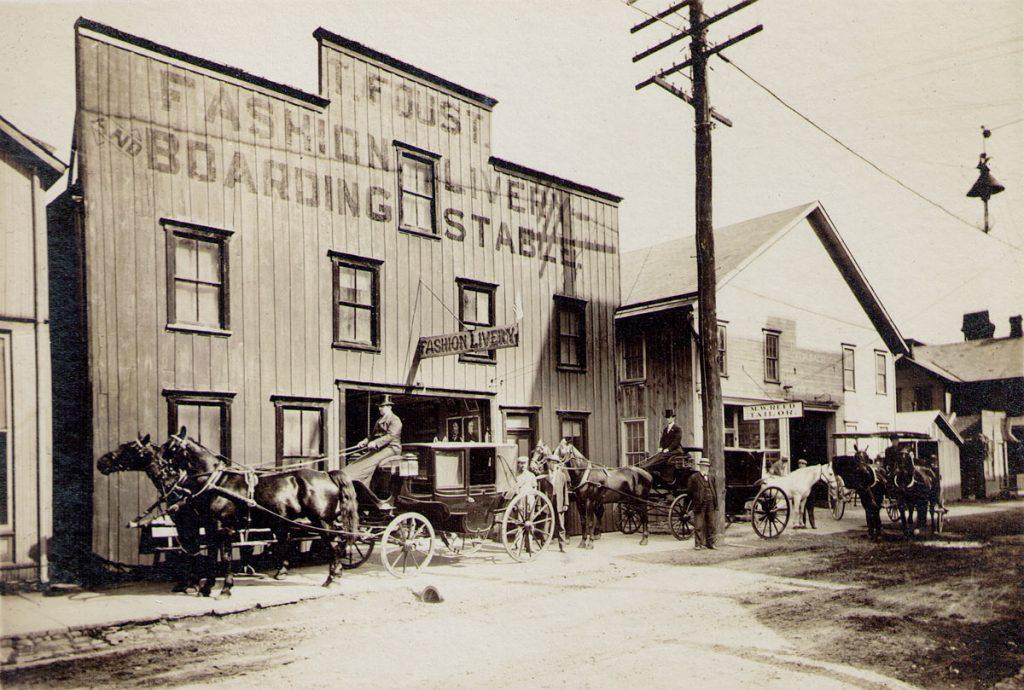 Tilman Foust Livery Stable Milton PA 1910