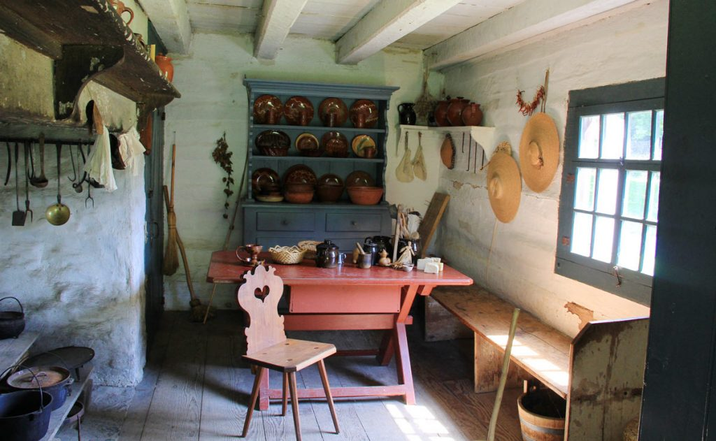 Inside Early 19th Century Kitchen