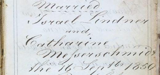 Israel Lindner Bible 1850 Detail