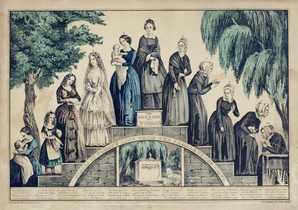 The Life and Age of Woman, Currier & Ives, 1850