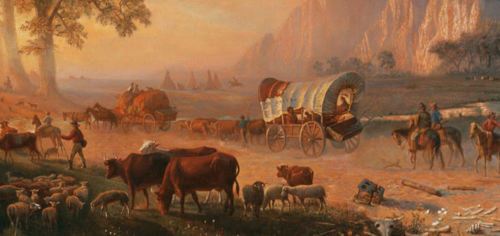 Emigrants Crossing The Plains, Albert Bierstadt, 1869