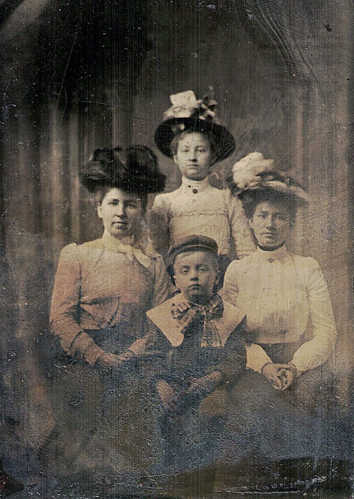 Martha Jane, Annie Frances, Mary Emma, and Raymond Joseph Hagenbuch, c. 1902