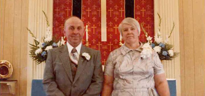 Raymond Larue & Dawn (Shultz) Hagenbuch, Oak Grove Lutheran Church, Detail