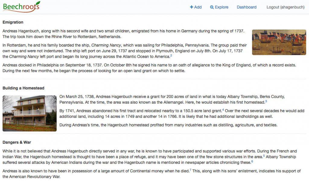 Andreas Hagenbuch Life Story Beechroots