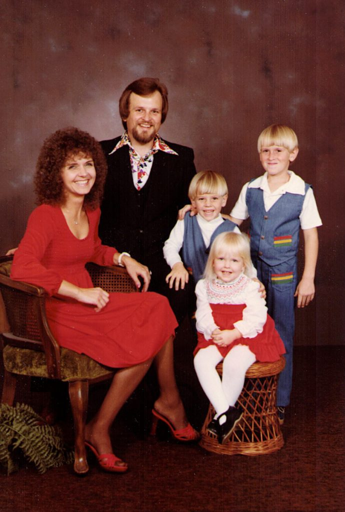 Earl Jr. and Carolyn Hagenbuch. Todd, Scott, Robyn, 1981