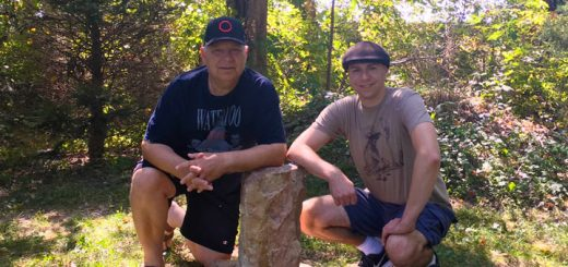 Mark and Andrew Hagenbuch with Bacon Stone