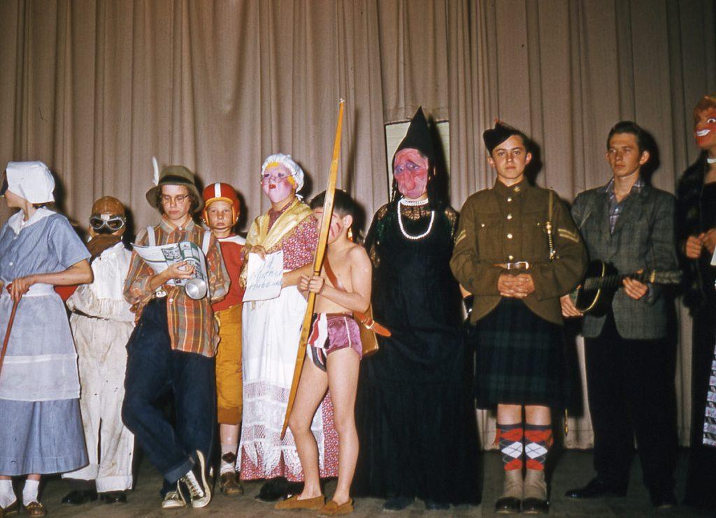 Children Halloween 1956
