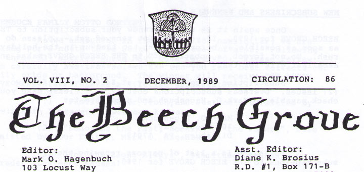 The Beech Grove, December 1989 Detail