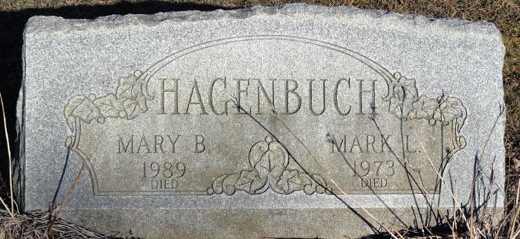 Gravestone of Mark and Mary Hagenbuch