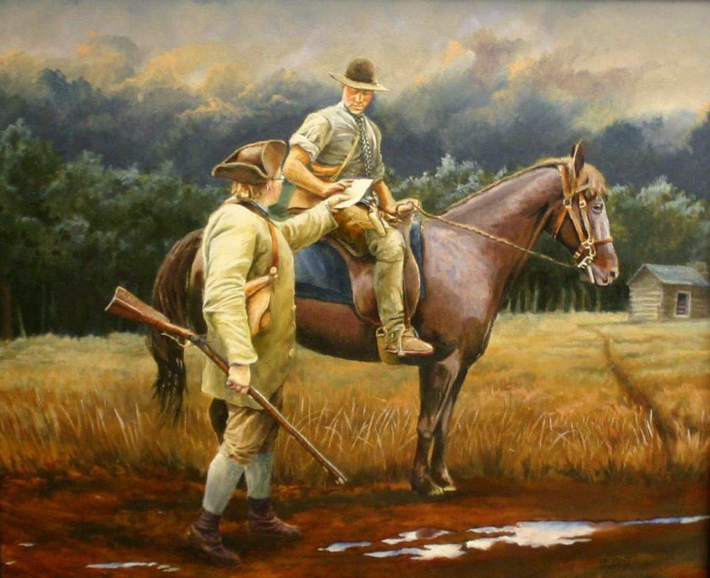 Horse and Rider Painting Bryant White