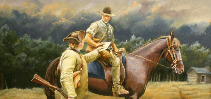 Horse and Rider detail painting Bryant White